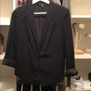 One button blazer, slightly oversized